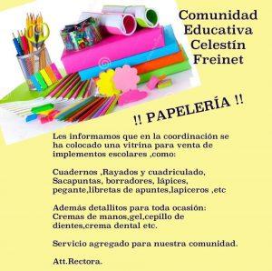 Circular Intitución Educativa Celestin Freinet itagui - papelería